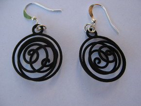 Tornado Earrings in Black Natural Versatile Plastic