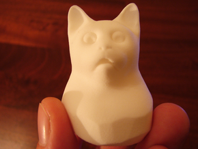 Cat Gasp (5 cm/2 inch) in White Strong & Flexible