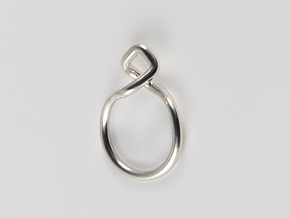 Dancing D.01, Ring US size 3, d=14mm  in Polished Silver: 3 / 44