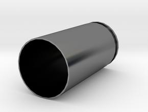 9x19mm Parabellum Casing in Fine Detail Polished Silver: Medium