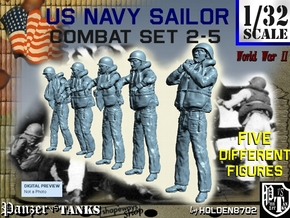 1-32 US Navy Sailors Combat SET 2-5 in Frosted Ultra Detail