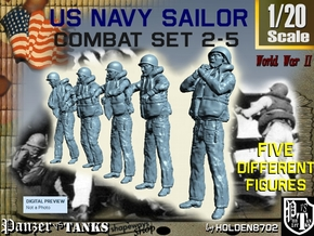 1-20 US Navy Sailors Combat SET 2-5 in White Strong & Flexible