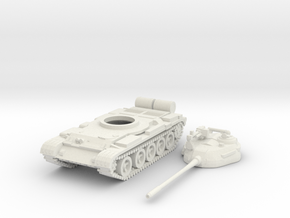 1/87 scale T-55 tank model (low detail) in White Natural Versatile Plastic