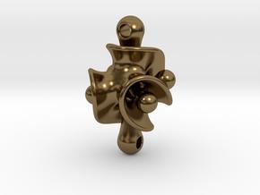Triple Torus Pendant in Interlocking Polished Bronze