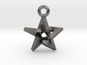 "Penrose Pentagram Pendant .7"" in Polished Nickel Steel"