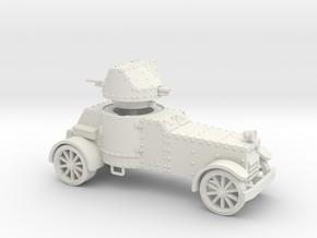 White Armoured Car (15mm) in White Natural Versatile Plastic