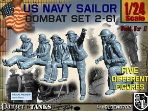1-24 US Navy Sailors Combat SET 2-61 in White Strong & Flexible