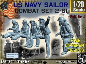 1-20 US Navy Sailors Combat SET 2-61 in White Natural Versatile Plastic