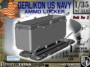 1/35 Oerlikon US Navy Ammo Locker in White Strong & Flexible