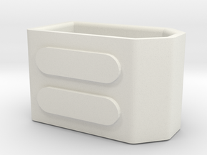 XT60 Battery cap with ribs in White Natural Versatile Plastic