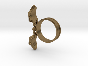 Flying Bat Charm Ring in Natural Bronze (Interlocking Parts): 5 / 49