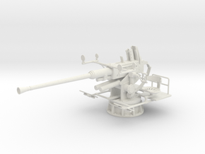 1/24 40mm Single Bofors [unElevated] in White Strong & Flexible: 1:24