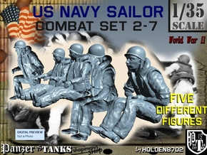 1-35 US Navy Sailors Combat SET 2-7 in Frosted Ultra Detail