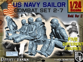 1-24 US Navy Sailors Combat SET 2-7 in White Strong & Flexible