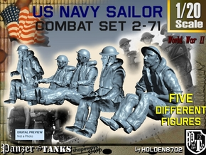 1-20 US Navy Sailors Combat SET 2-71 in White Strong & Flexible
