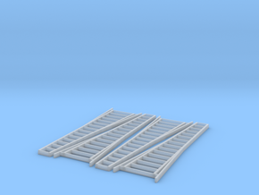HO Scale, Four 15' Ladders in Frosted Ultra Detail: 1:87