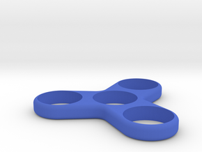 Triple Spinner - Hand/EDC/Fidget Spinner in Blue Strong & Flexible Polished