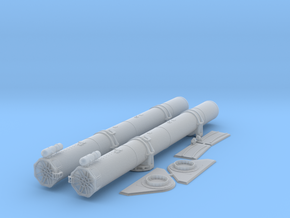 1/35 Torpedo Tubes (forward) for PT Boats in Smooth Fine Detail Plastic