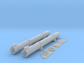 1/35 Torpedo Tubes (aft pair) for PT Boats in Smooth Fine Detail Plastic