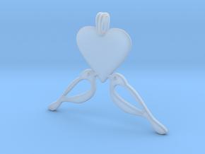 LOVE Birds Symbol Customizable Initial Monogram  in Smooth Fine Detail Plastic
