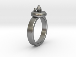 ChristmasTrees Ring Ø0.677 inch/Ø17.20 Mm in Natural Silver: 1.5 / 40.5