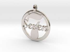 LUCKY Seven Symbol Jewelry Pendant CHARM GIFT in Platinum