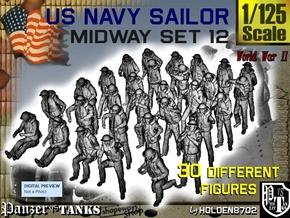 1-125 US Navy MIDWAY Set 12 in Smooth Fine Detail Plastic