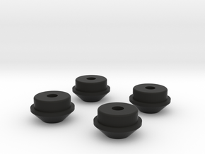 spring cups for scx10 shocks in Black Natural Versatile Plastic