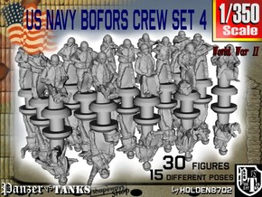 1/350 US Navy Bofors Crew Set 4 in Smoothest Fine Detail Plastic
