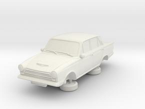 1-87 Ford Cortina Mk1 4 Door in White Natural Versatile Plastic