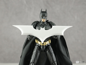 "Batman Trilogy Batarang 12cm (4.75"") in White Strong & Flexible"