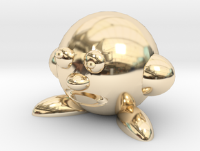 Cerby (Bootleg Parody Of Kirby) in 14k Gold Plated Brass