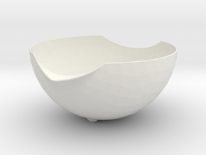 Bowl-to-stack in White Natural Versatile Plastic
