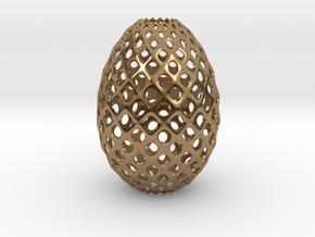 Egg Round in Natural Brass