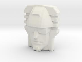Devastator, Sunbow Face (Titans Return) in White Natural Versatile Plastic