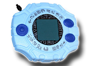 Digimon Digivice in White Processed Versatile Plastic