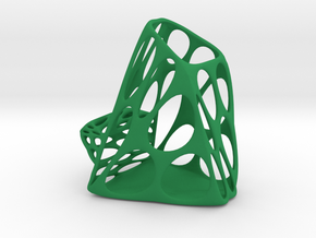 Exia Pen Fork Holder & Phone Tablet Stand - L in Green Processed Versatile Plastic