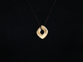 Chip Pendant (#2402) in Polished Gold Steel