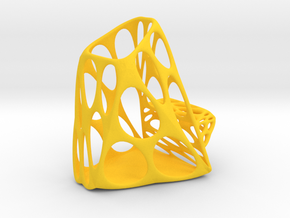 Exotic Tools Fork Holder - Phone Tablet - S in Yellow Processed Versatile Plastic
