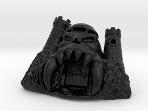 Skull Castle 2.0  in Black Hi-Def Acrylate