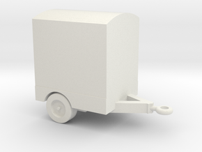 1/144 Scale Power Distribution Trailer in White Natural Versatile Plastic