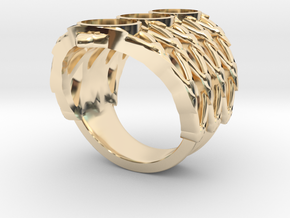 BlakOpal Lace Goth Ring in 14k Gold Plated Brass: 8.5 / 58