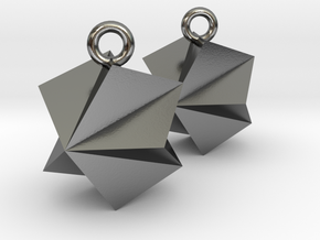 Sparky Earrings 12mm in Polished Silver