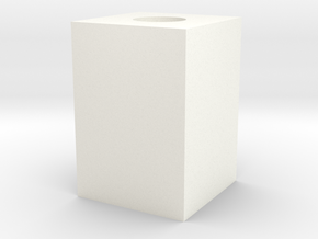 Cubo Réplica in White Strong & Flexible Polished