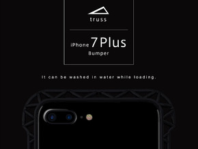 iPhone7 Plus​​ Bumper 「truss」 in Black Natural Versatile Plastic