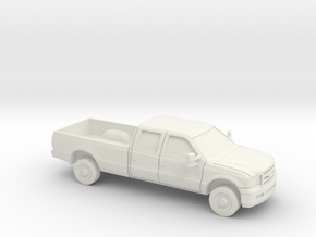 1/64 2005 Ford F 350 Crew Cab Long Bed in White Natural Versatile Plastic