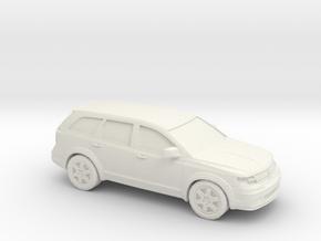 1/43 2009 Dodge Journey in White Natural Versatile Plastic