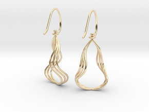 Gentle Flow - Precious Metal Earrings in 14K Yellow Gold