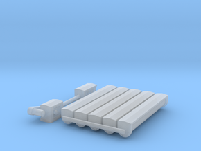 """'N Scale' - 12"""" Round Bottom Conveyor in Smooth Fine Detail Plastic"""