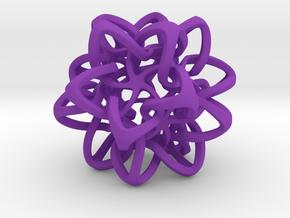 Interlocked Star Nest in Purple Strong & Flexible Polished